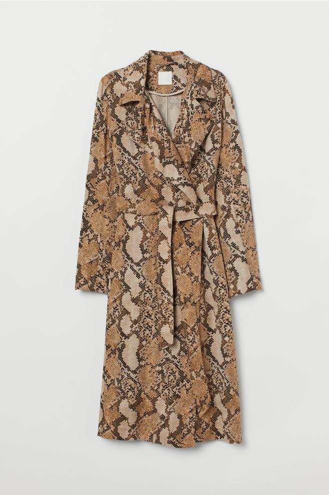 snake skin coat